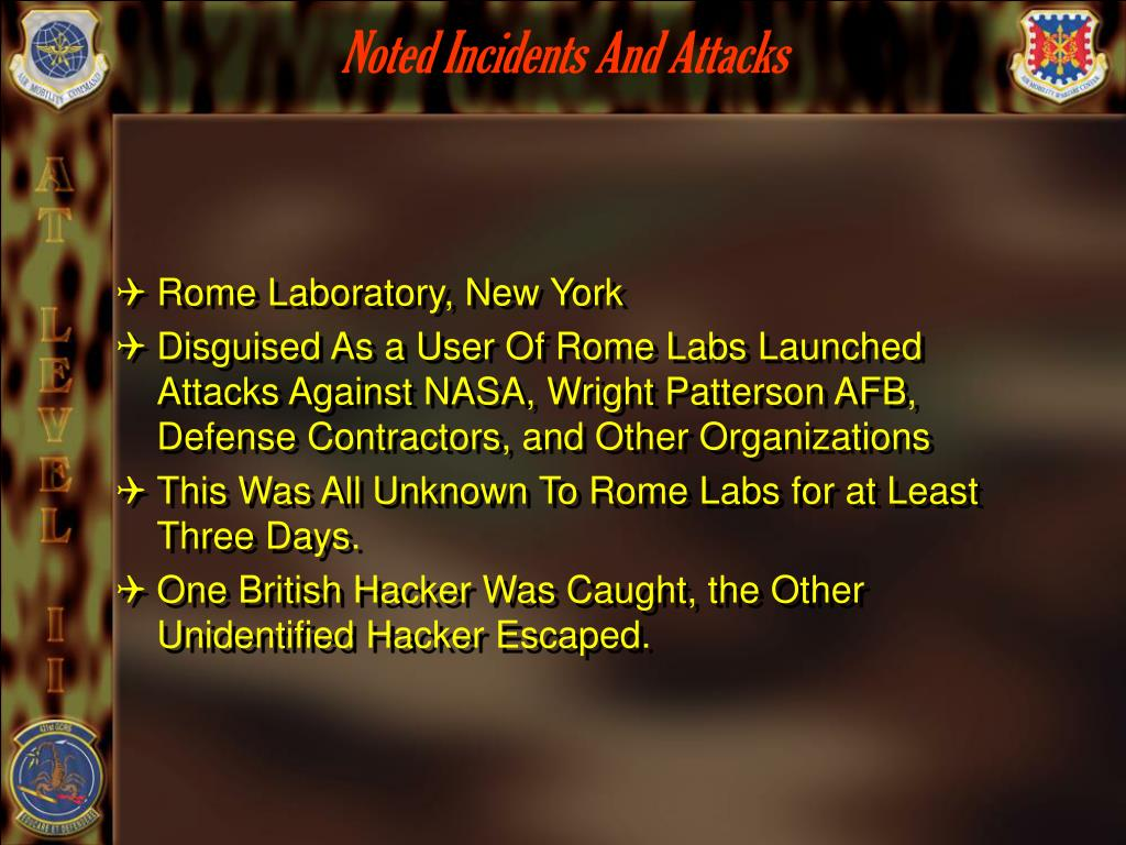 Noted Incidents And Attacks