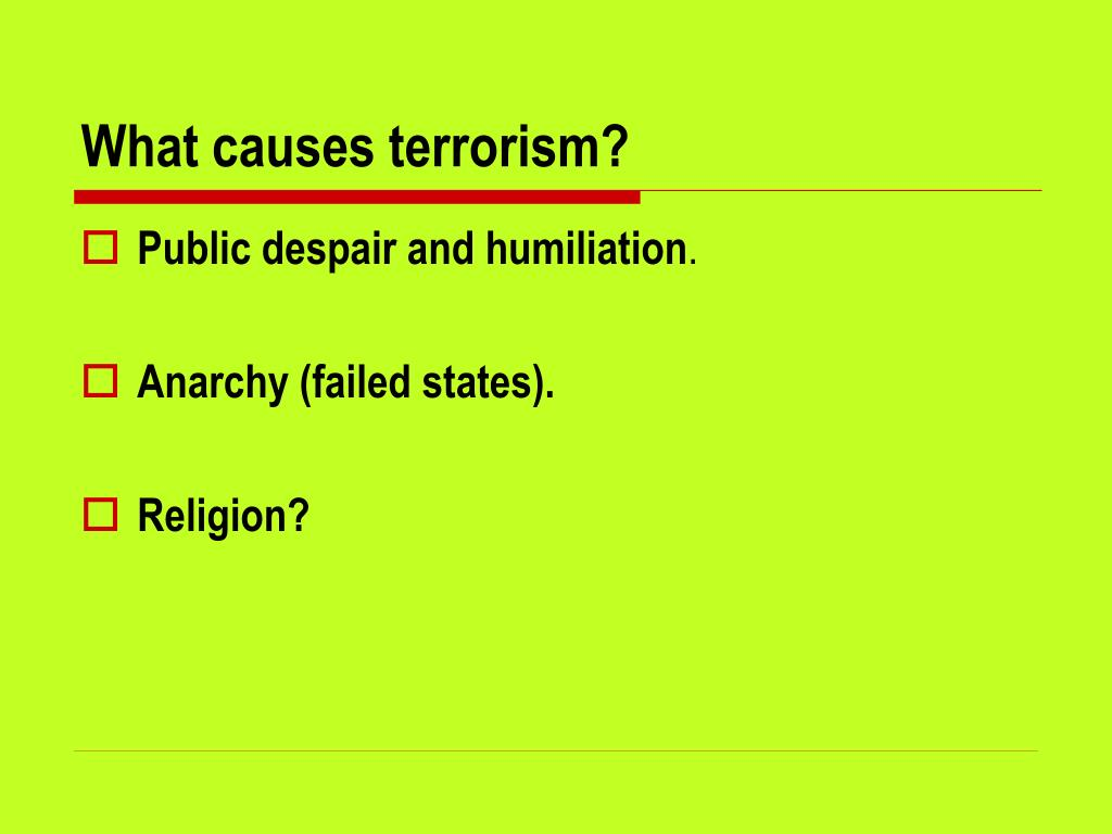 What causes terrorism?