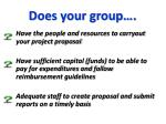 does your group