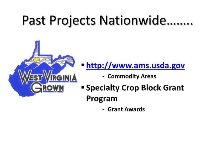 Past Projects Nationwide……..