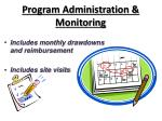 program administration monitoring