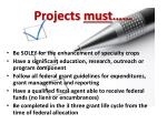projects must