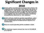 significant changes in 20101