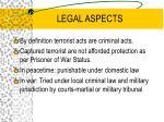legal aspects