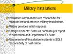military installations