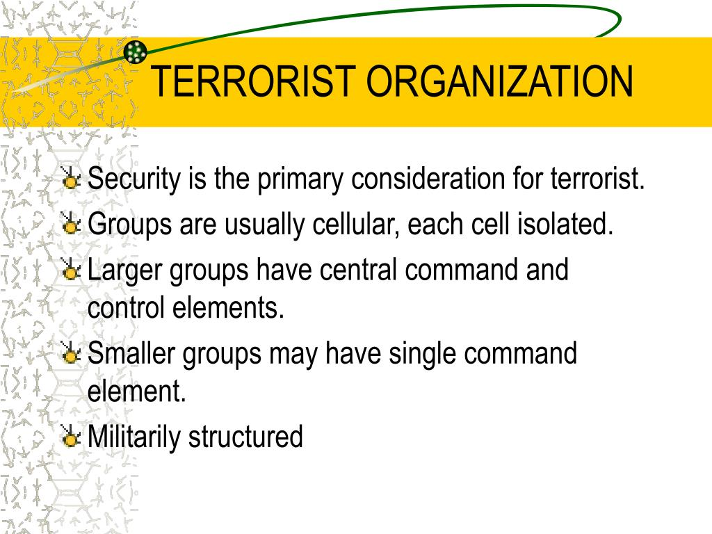 TERRORIST ORGANIZATION