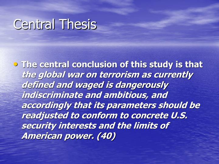 Central thesis