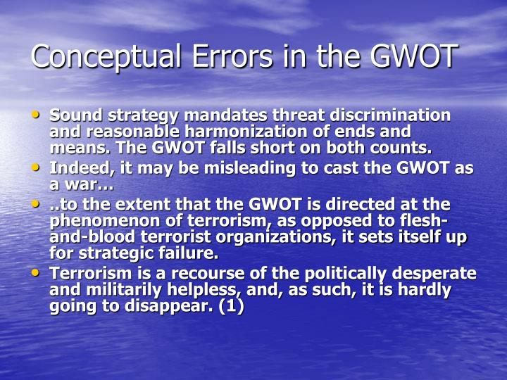 Conceptual errors in the gwot
