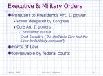 executive military orders