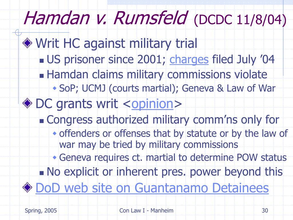 Hamdan v. Rumsfeld