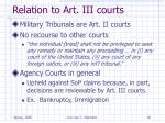 relation to art iii courts