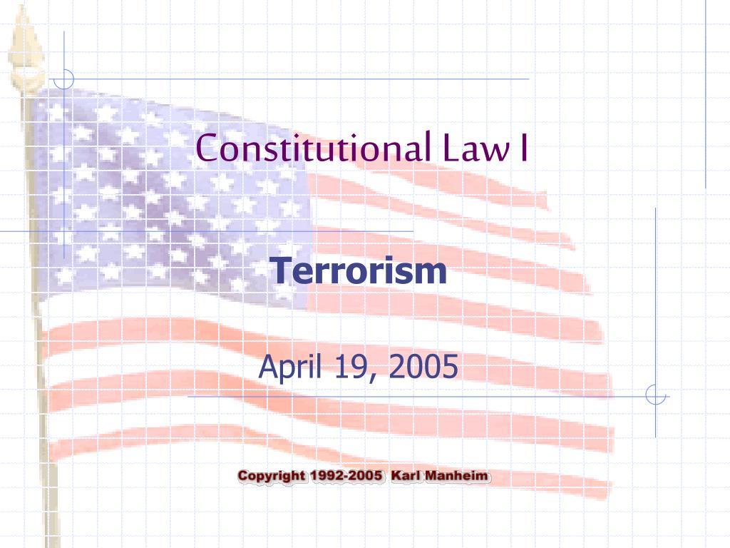 terrorism april 19 2005