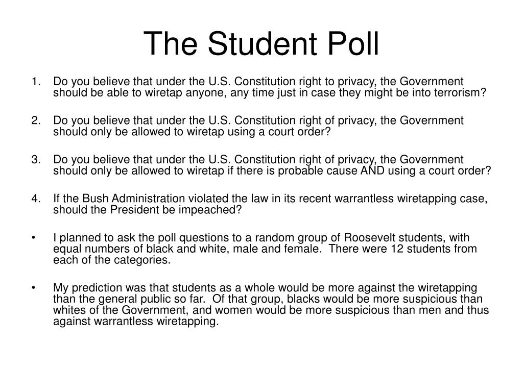 The Student Poll