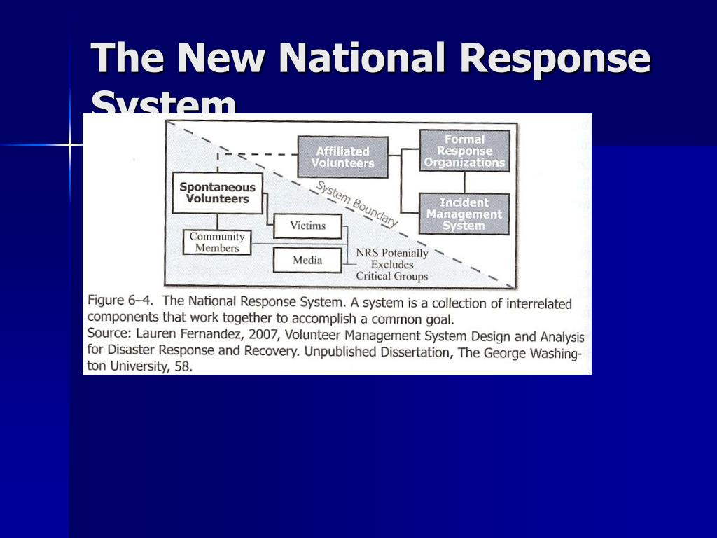The New National Response System