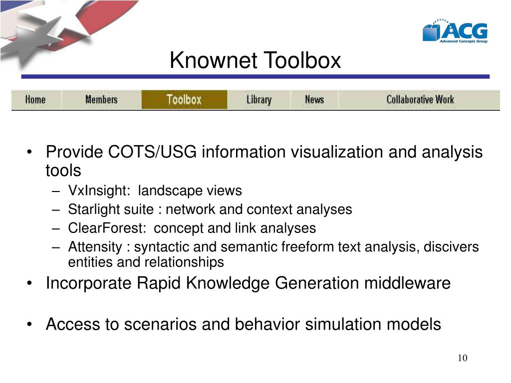 Knownet Toolbox