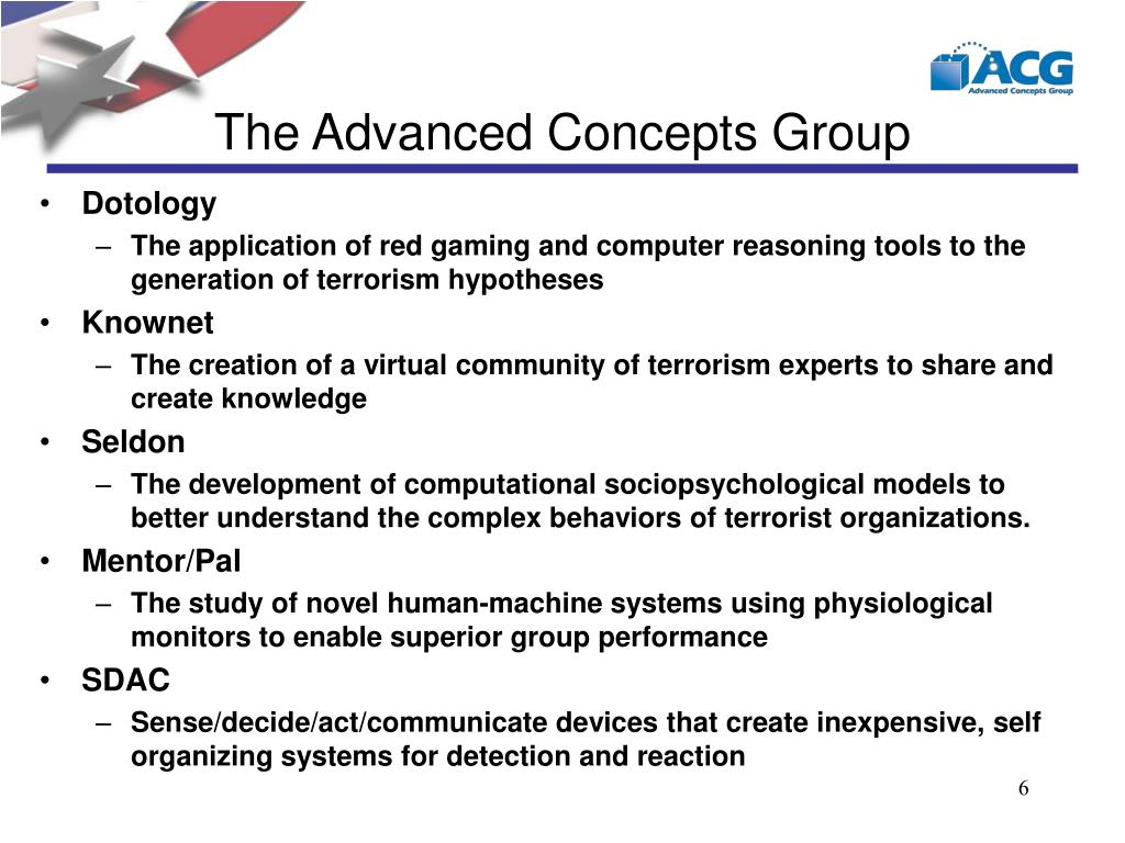 The Advanced Concepts Group