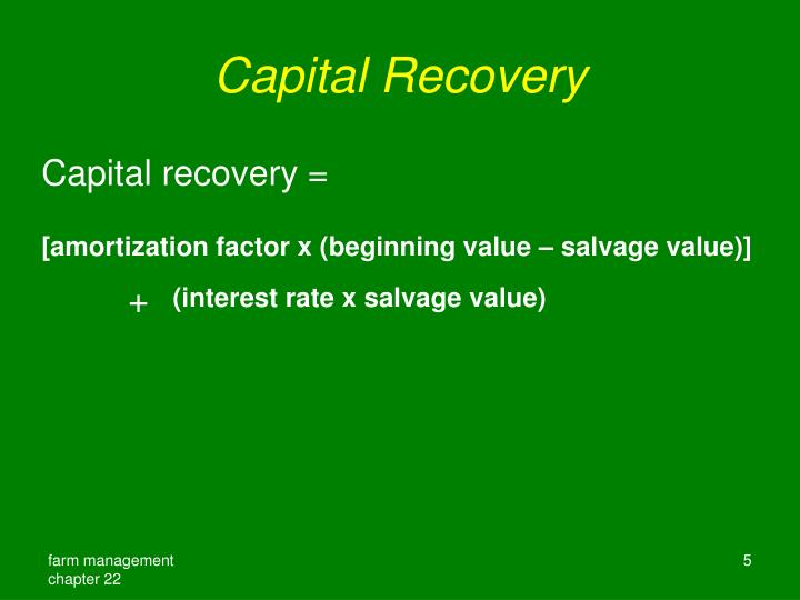 Capital Recovery