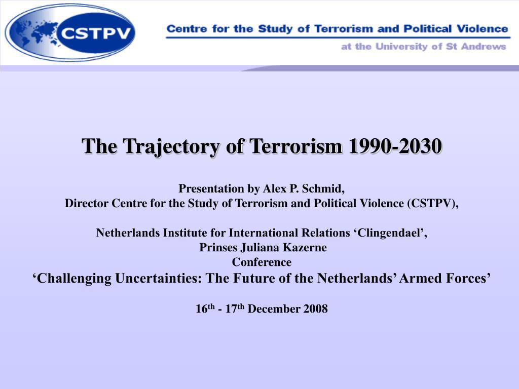 The Trajectory of Terrorism 1990-2030