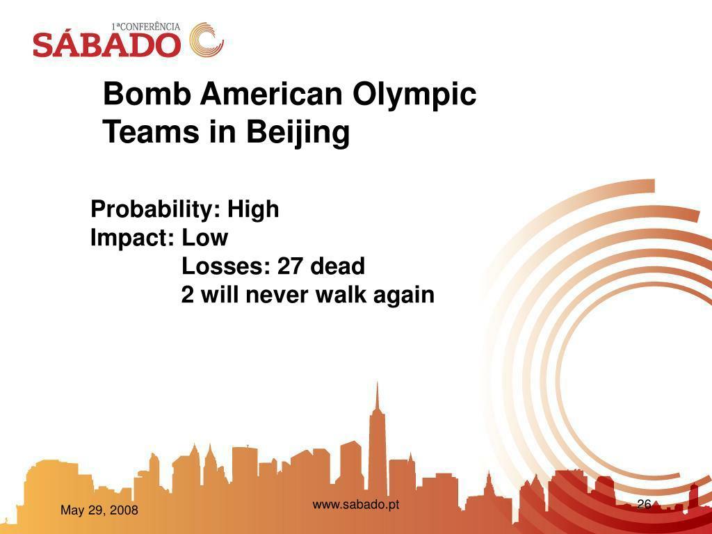 Bomb American Olympic Teams in Beijing