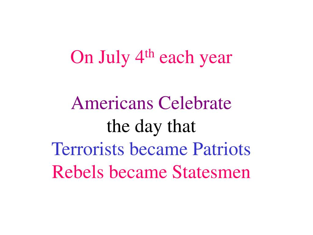 On July 4