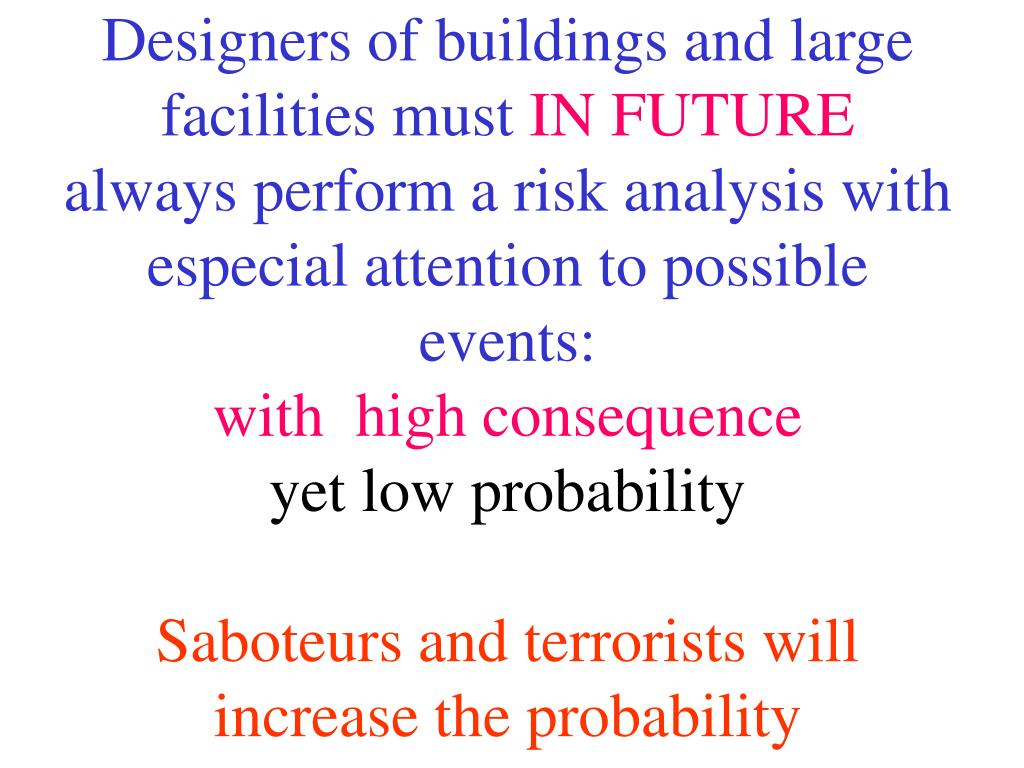Designers of buildings and large facilities must