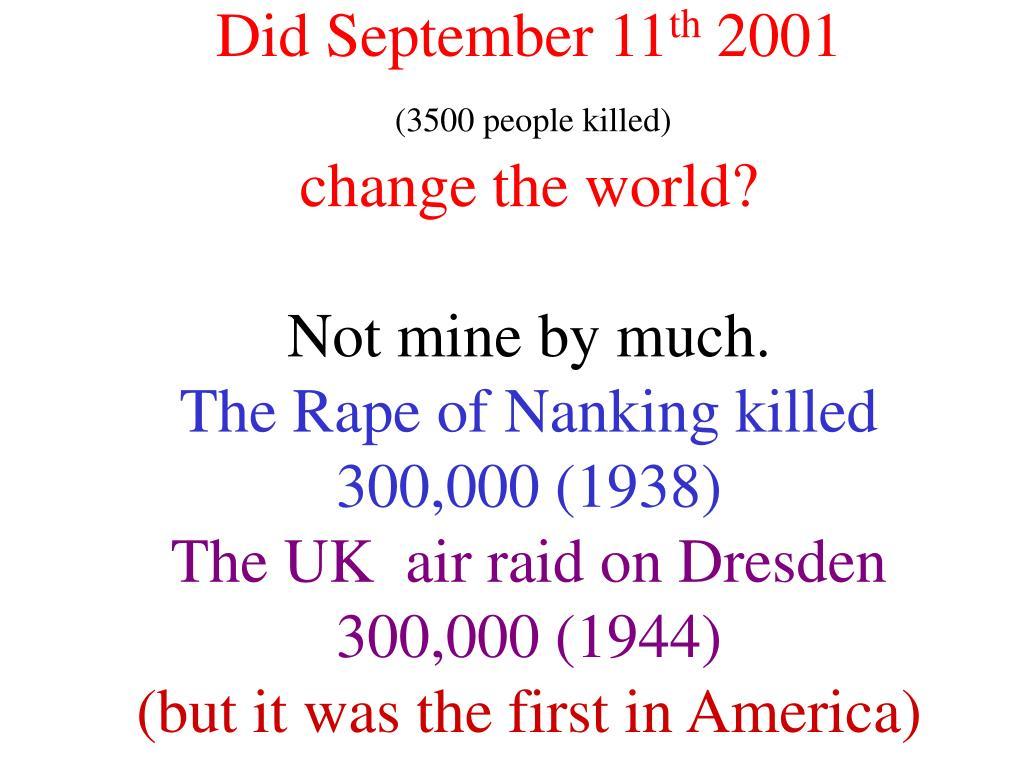Did September 11
