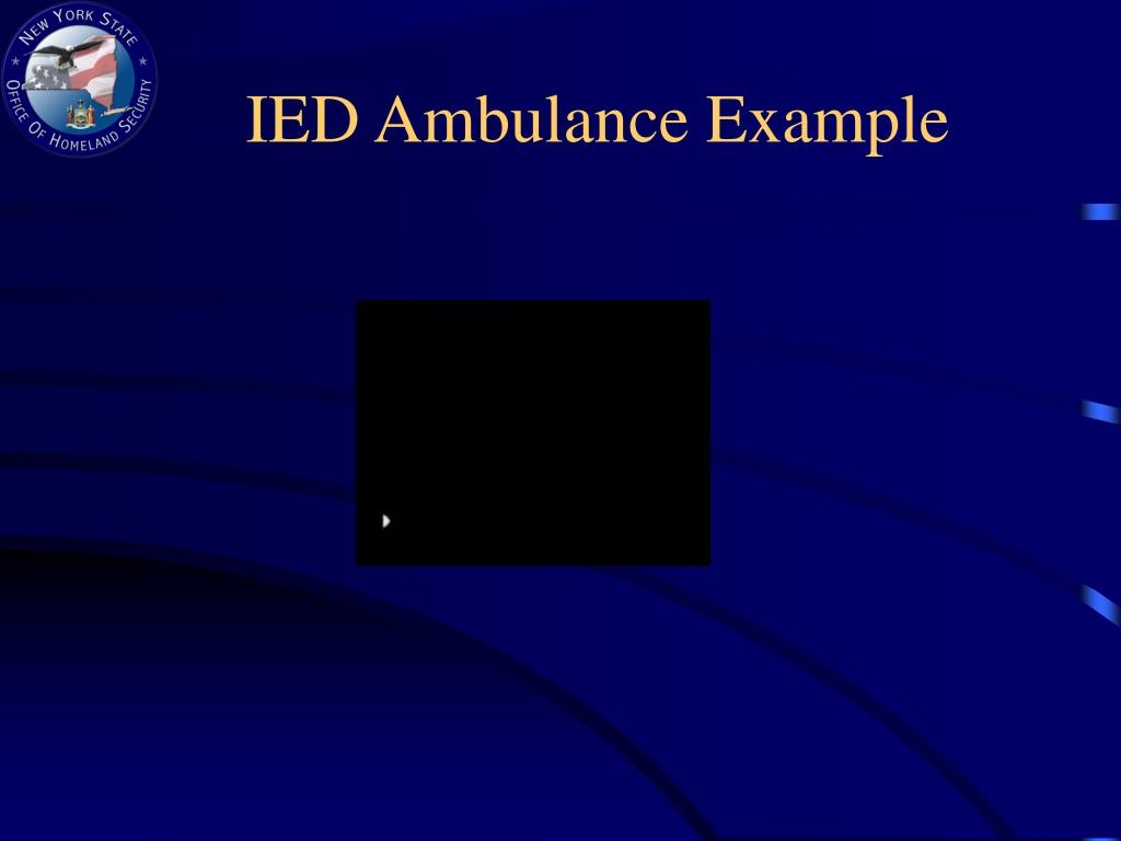 IED Ambulance Example