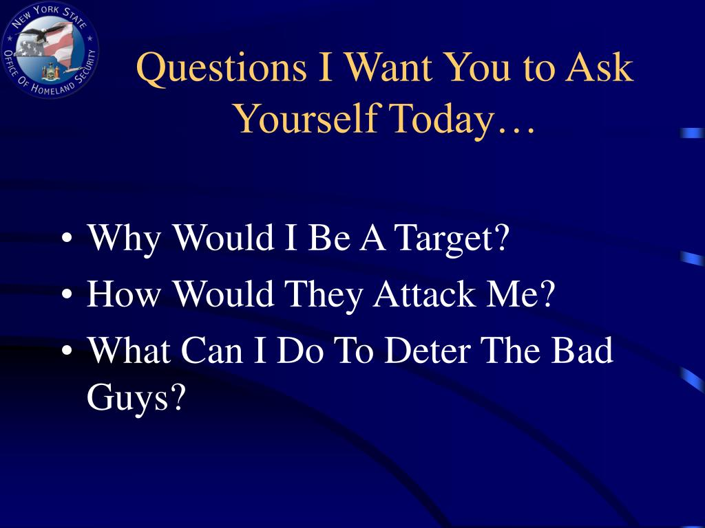 Questions I Want You to Ask Yourself Today…
