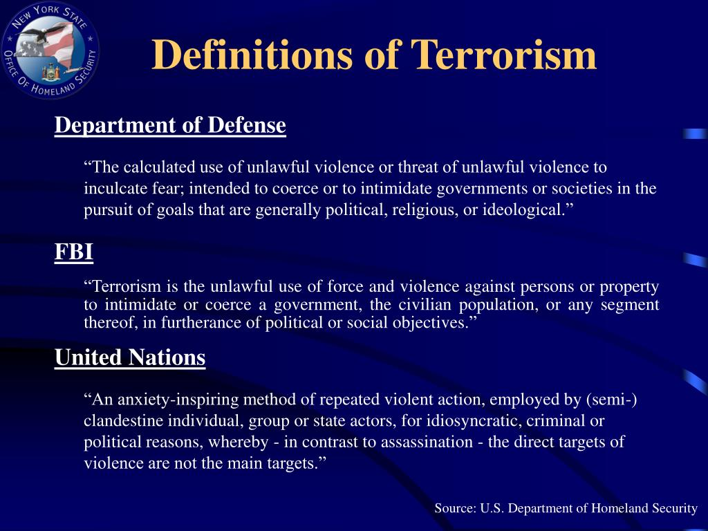 Definitions of Terrorism