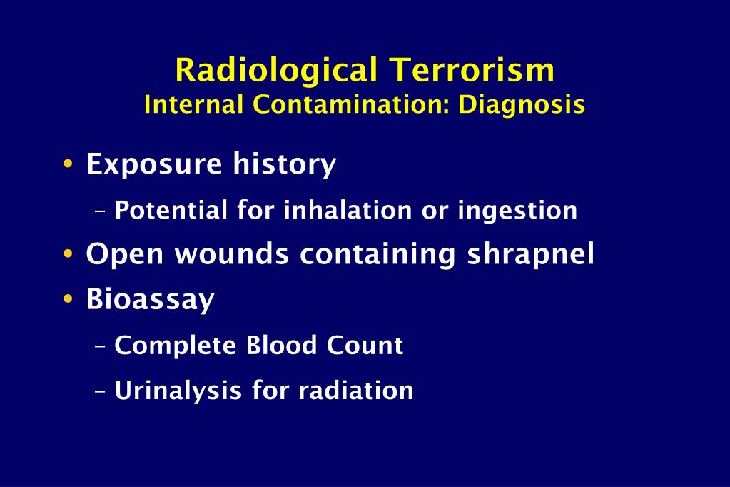 Radiological Terrorism