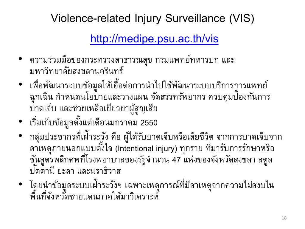Violence-related Injury Surveillance