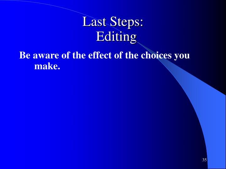 Last Steps: