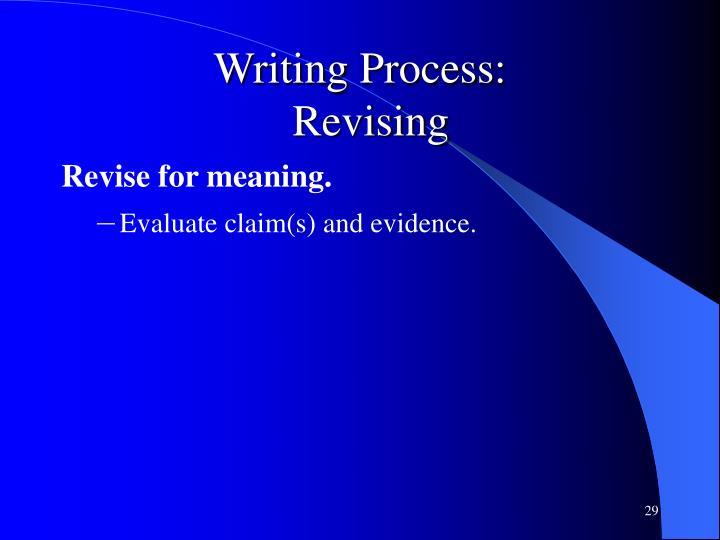 Writing Process: