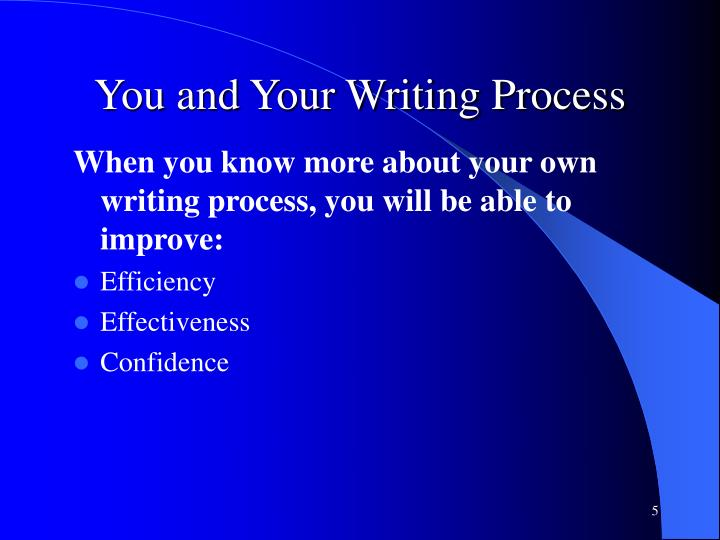 You and Your Writing Process