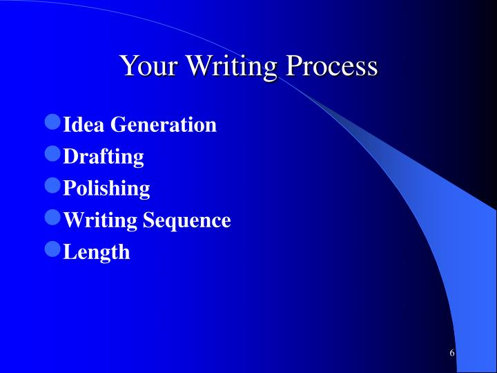 Your Writing Process