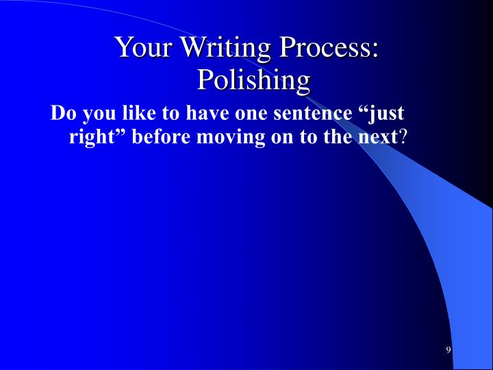 Your Writing Process: