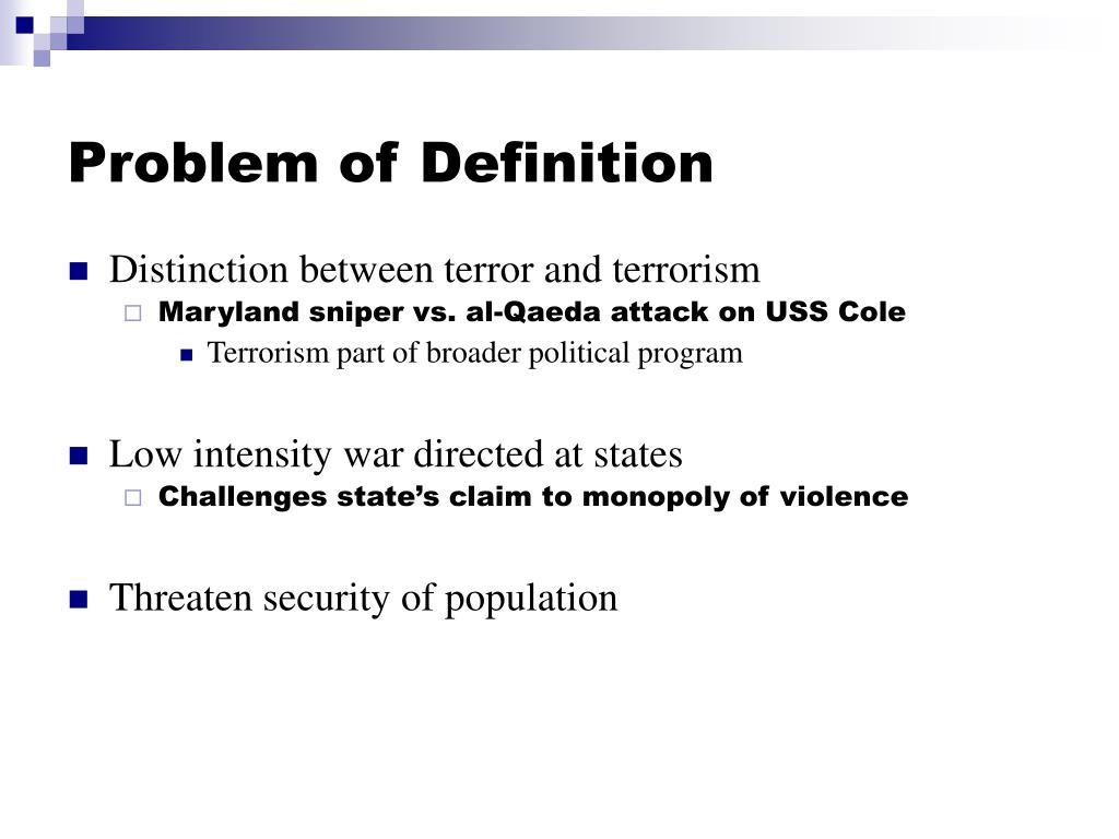 Problem of Definition
