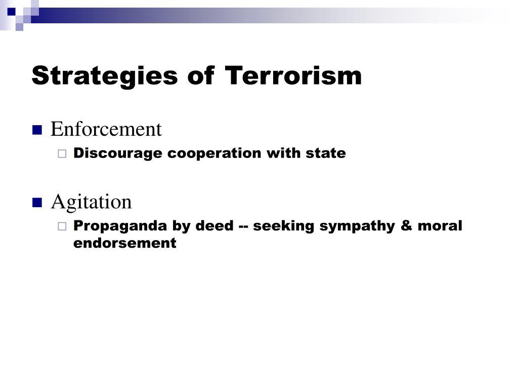 Strategies of Terrorism