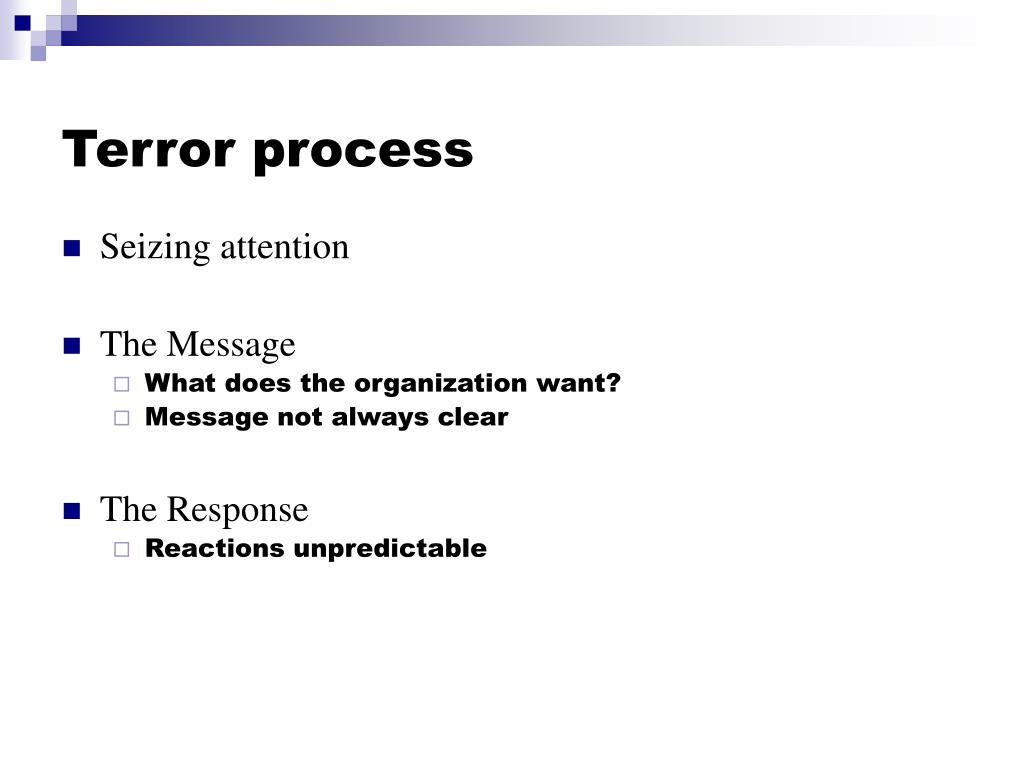 Terror process