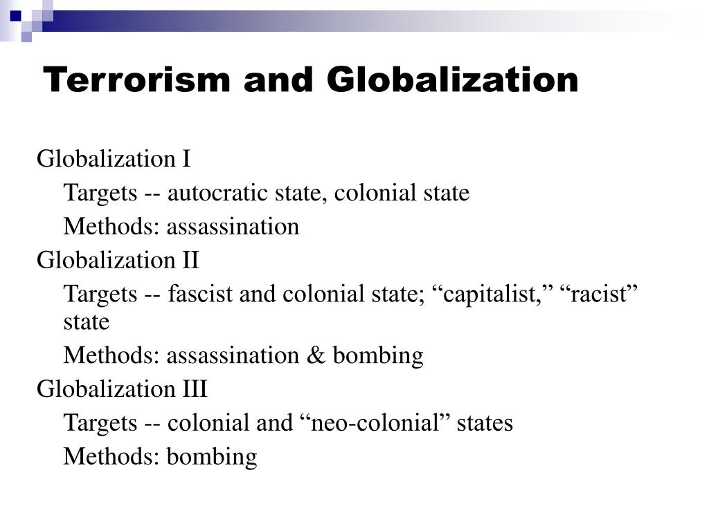 Terrorism and Globalization
