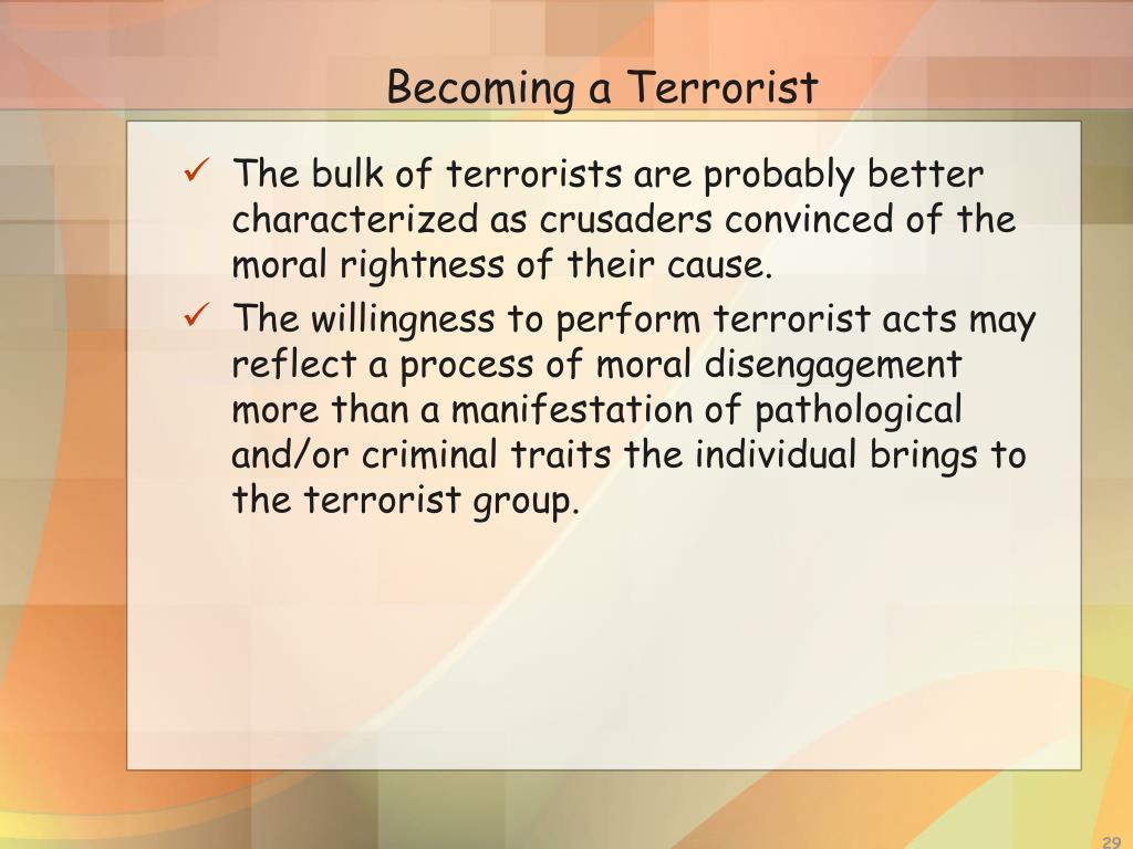 Becoming a Terrorist