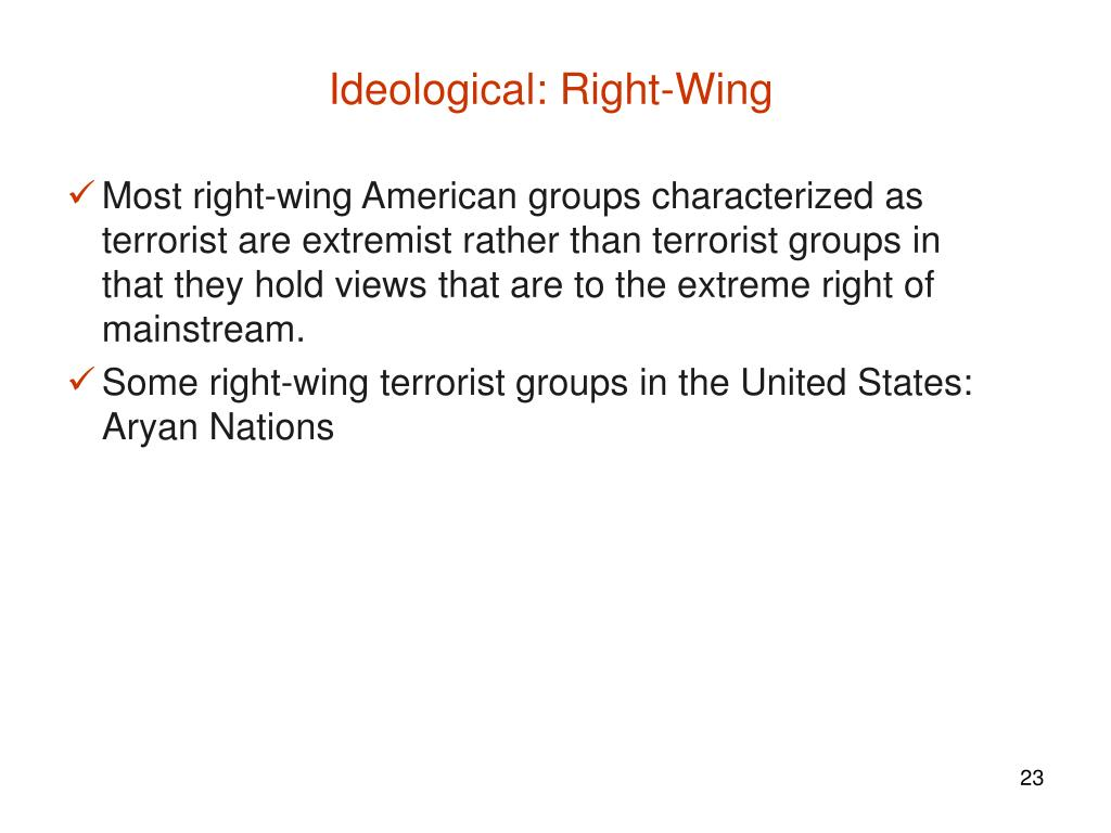Ideological: Right-Wing