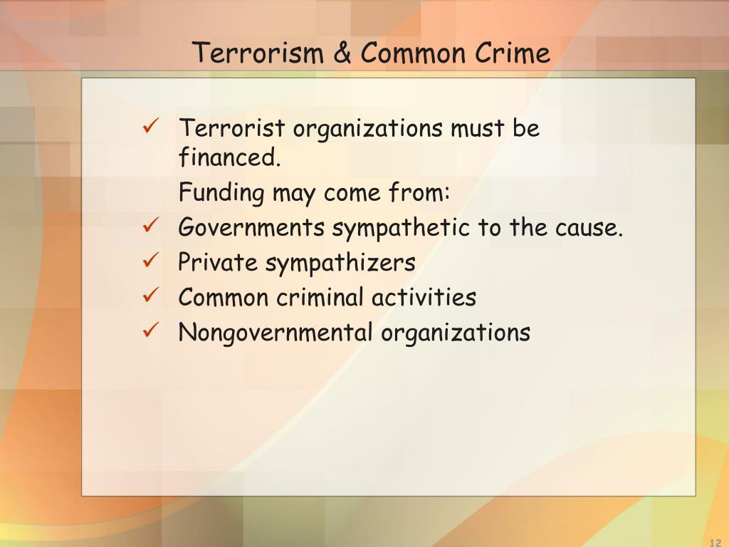 Terrorism & Common Crime