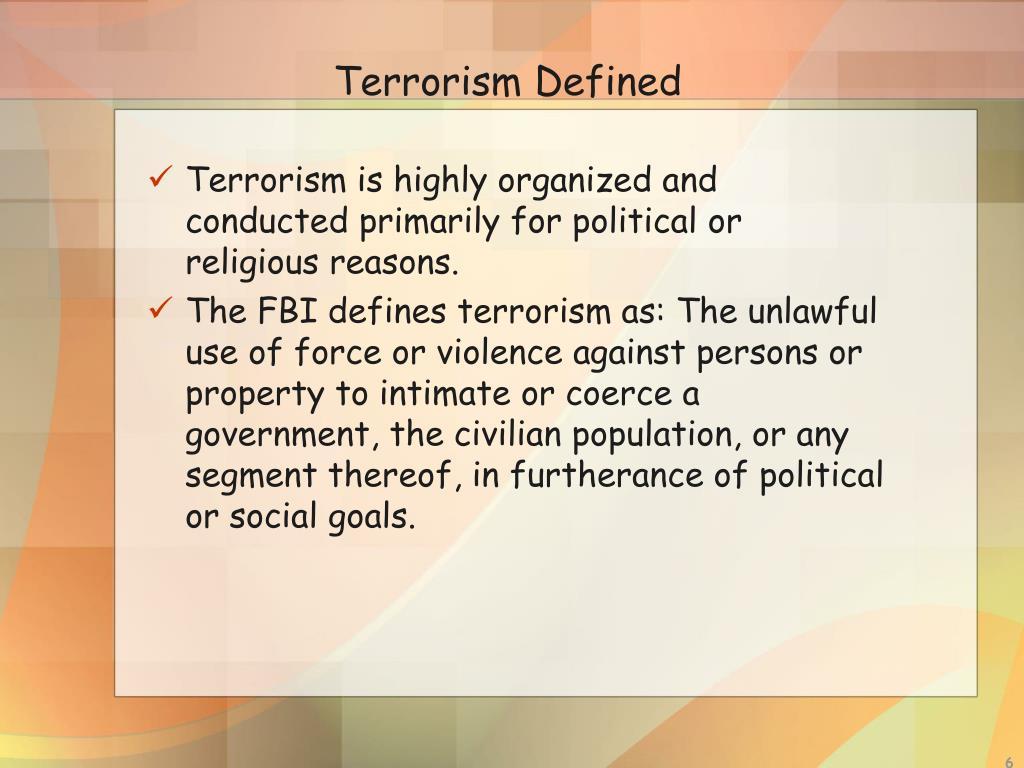 Terrorism Defined