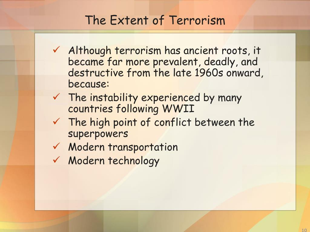 The Extent of Terrorism