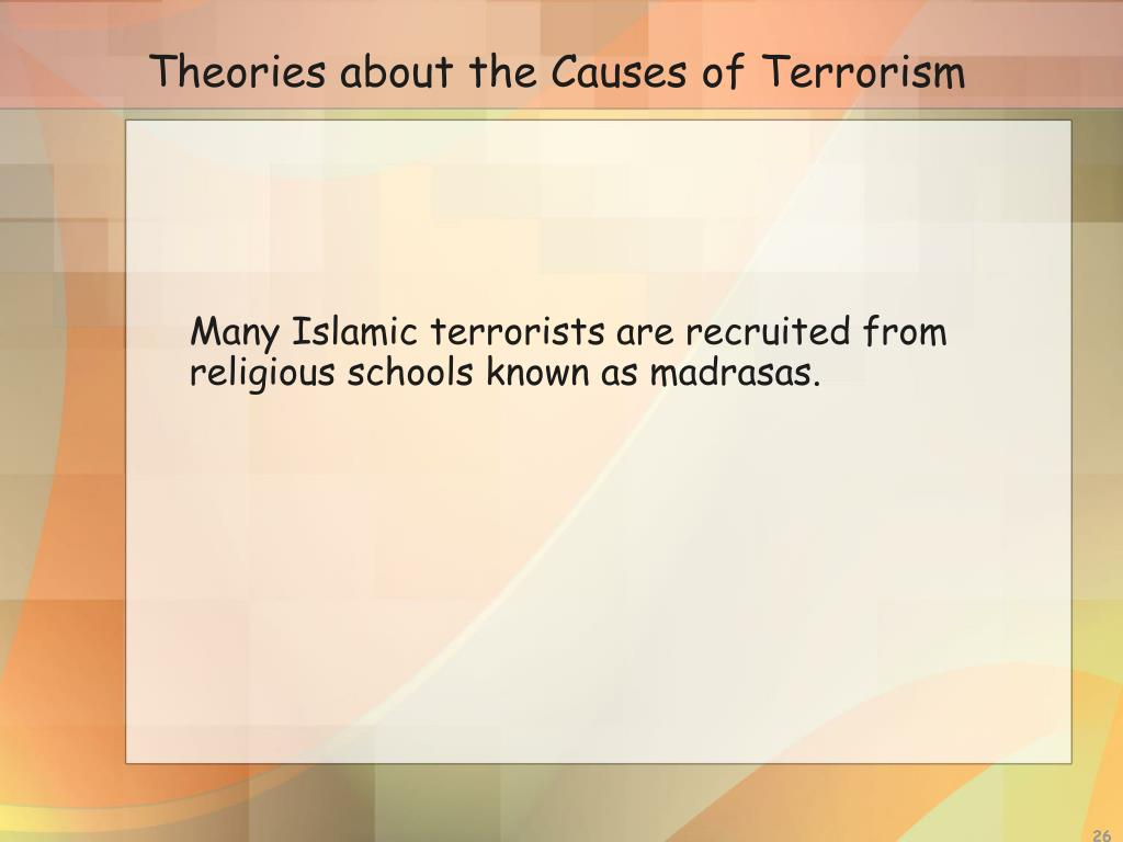 Theories about the Causes of Terrorism