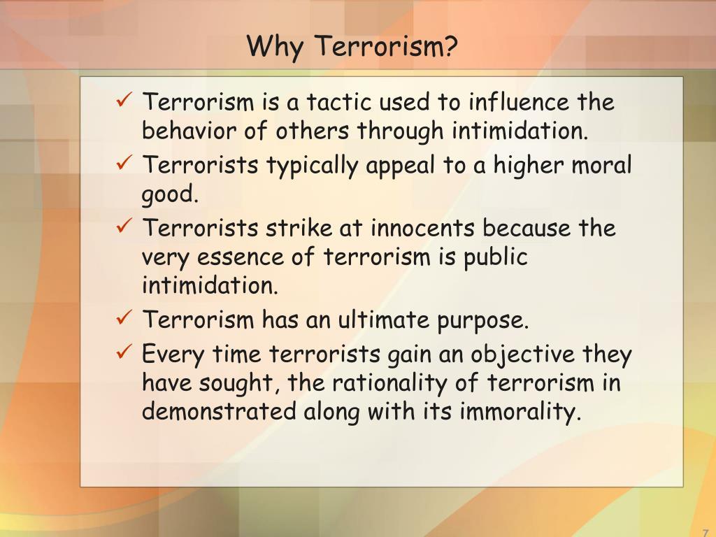 Why Terrorism?