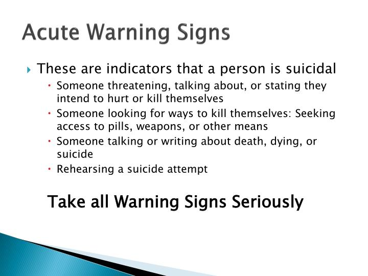 Acute Warning Signs