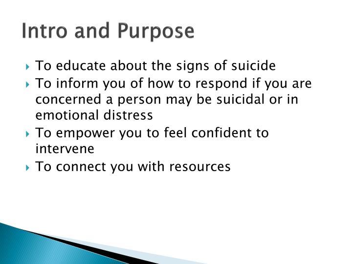 Intro and Purpose