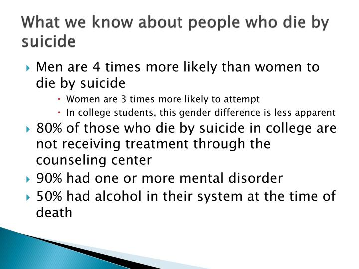 What we know about people who die by suicide